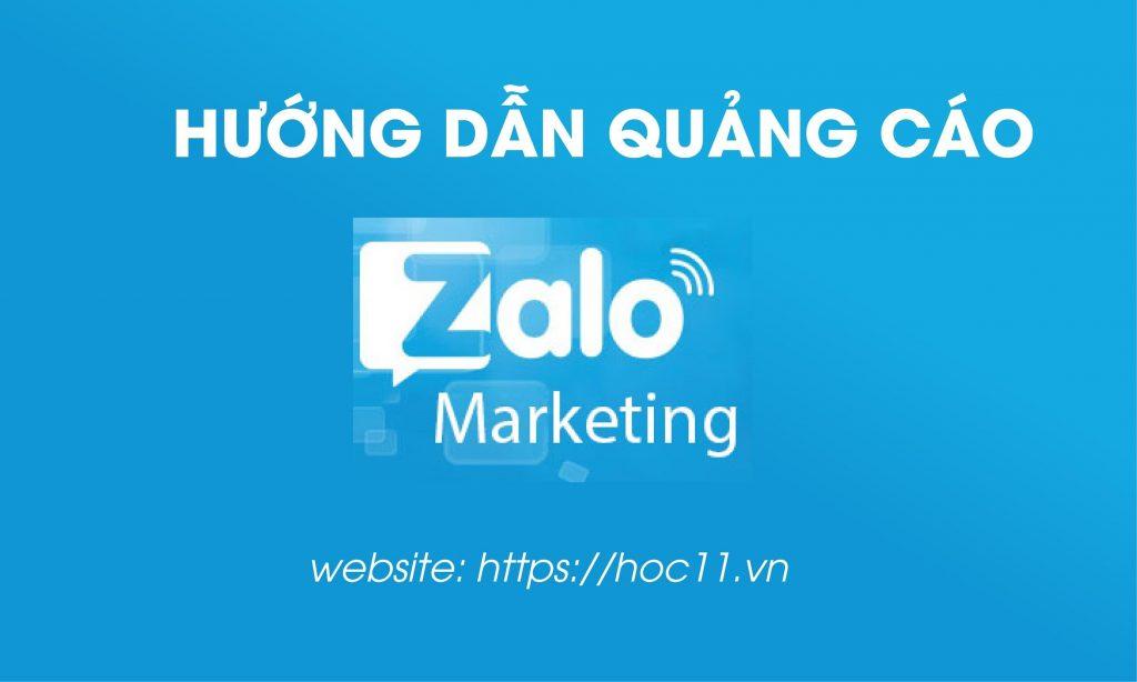 Zalo Ads là gì? - Hướng dẫn quảng cáo Zalo Ads Hoc11