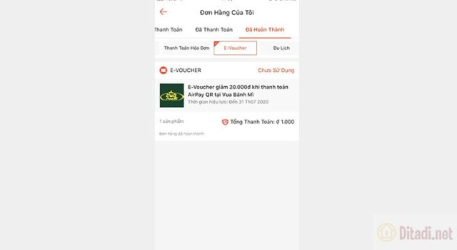 danh sách e voucher deal gần bạn trên shopee