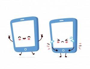 cute smiling happy sad smartphone 92289 23