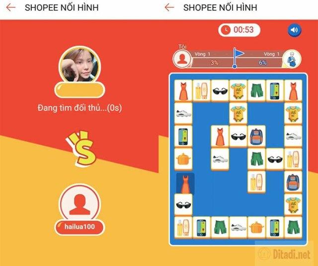 hệ thống shopee nối hình tìm đối thủ ngẫu nhiên
