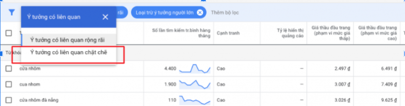 nghiên cứu từ khóa bằng google keyword planner