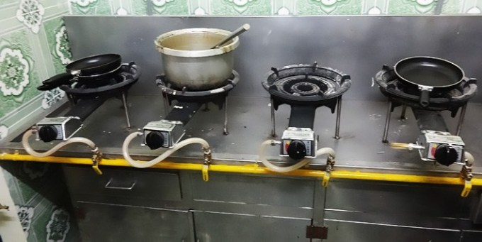 chú ý hệ thống gas khi thiết kế bếp nhà hàng