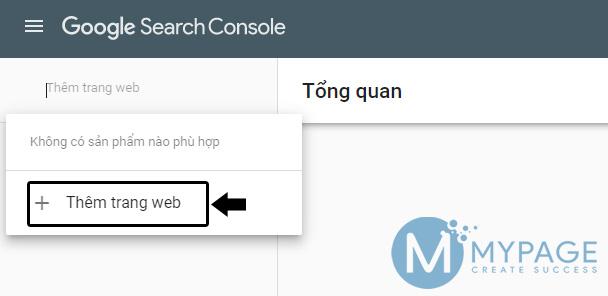 Thêm trang web vào Google Search console