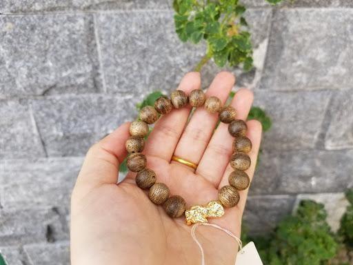 Vòng Trầm Hương Tỳ Hưu Vàng