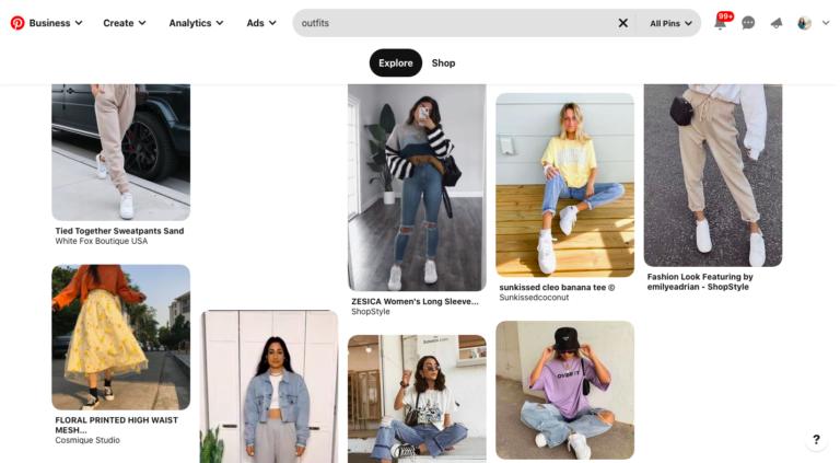 Kết quả tìm kiếm hình ảnh trên Pinterest