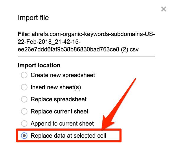 keyword cannibalization tool upload data