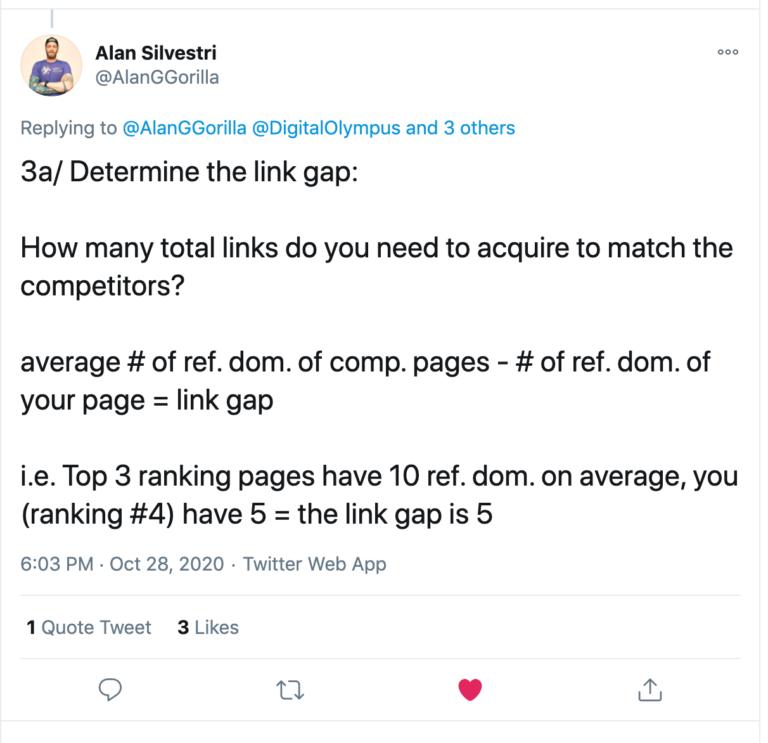Cách xác định Link Gap