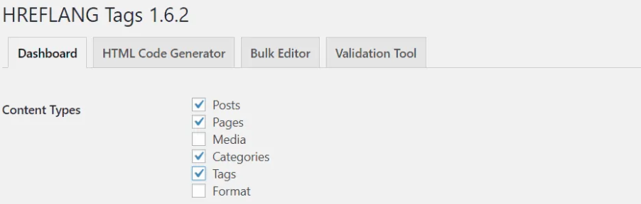 Tick chọn các Content types