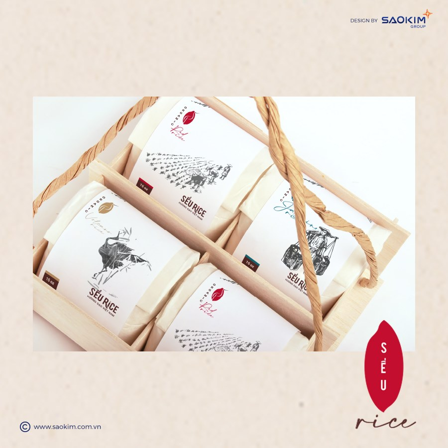 [SaoKim.com.vn] Sếu Rice sử dụng túi giấy thân thân thiện với môi trường