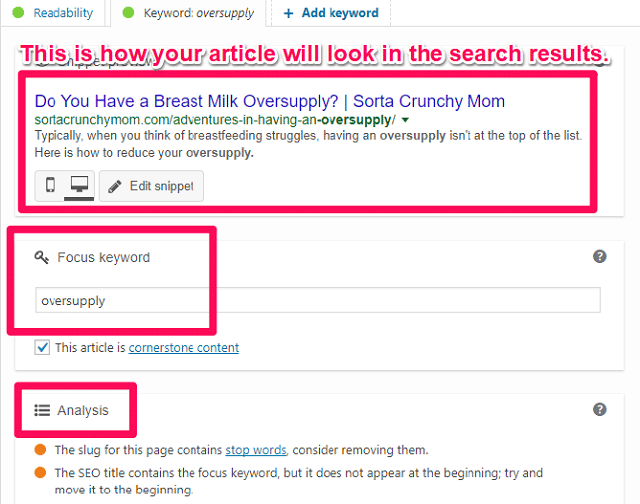 Mức độ tối ưu hóa bài đăng của yoast seo