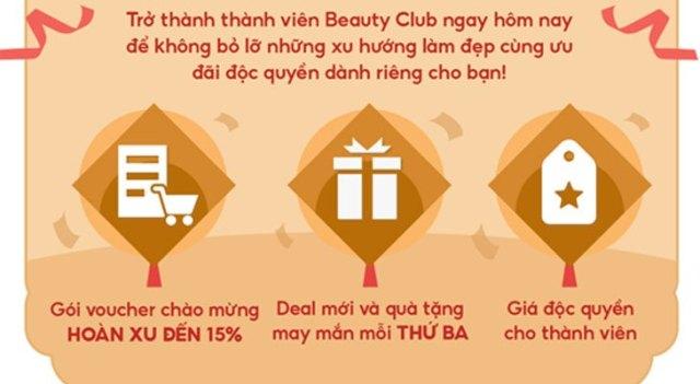 quyền lợi thành viên shopee beauty club