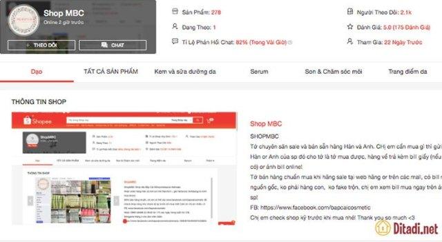 Shop MBC là top 10 Shop mỹ phẩm uy tín trên Shopee năm 2021