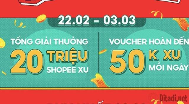 Phần thưởng game hộp quà Shopee 3.3