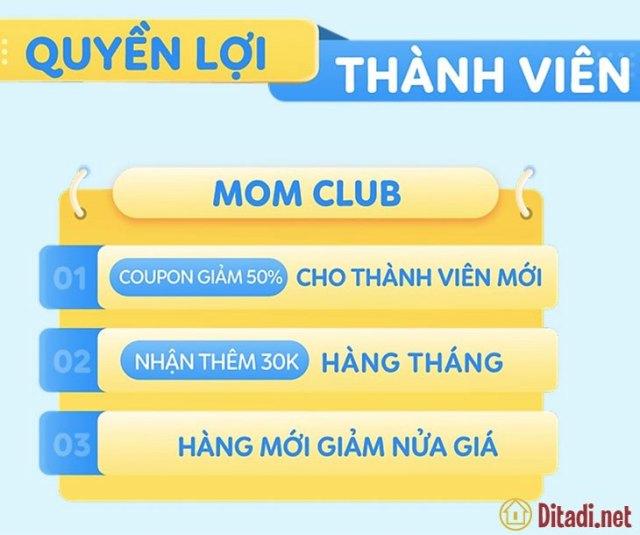 Quyền lợi thành viên Mom Club