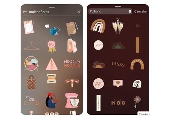 Các sticker đẹp trên instagram